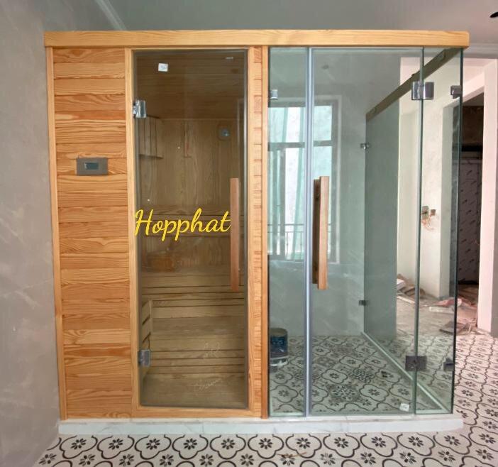 Phòng xông hơi khô và ướt kết hợp khách hàng Anh Khánh – Vin Marina_Hải Phòng